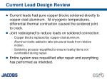 current lead design review