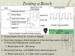 testing a bosch