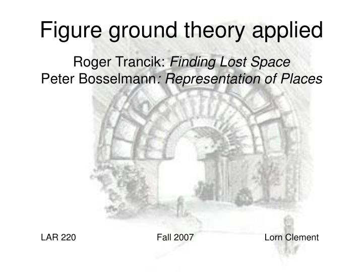 figure ground theory applied n.