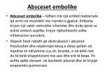 absceset embolike