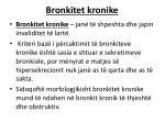 bronkitet kronike