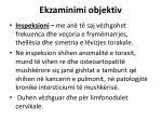 ekzaminimi objektiv