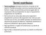 termi restriksion