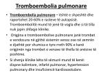 tromboembolia pulmonare