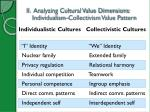 ii analyzing cultural value dimensions individualism collectivism value pattern