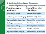 ii analyzing cultural value dimensions weak strong uncertainty avoidance value pattern
