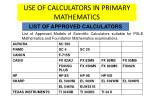 use of calculators in primary mathematics3