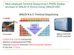 most employed terminal sequencing in psrg studies are base on maldi in source decay maldi isd