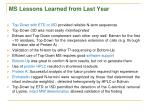 ms lessons learned from last year