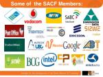 some of the sacf members