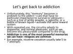 let s get back to addiction