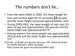 the numbers don t lie