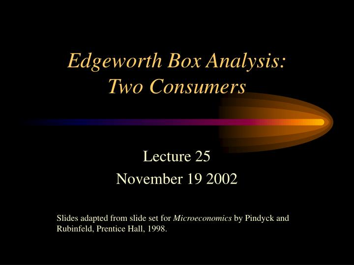 edgeworth box analysis two consumers n.