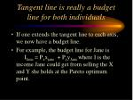 tangent line is really a budget line for both individuals