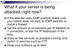 what if your server is being attacked right now
