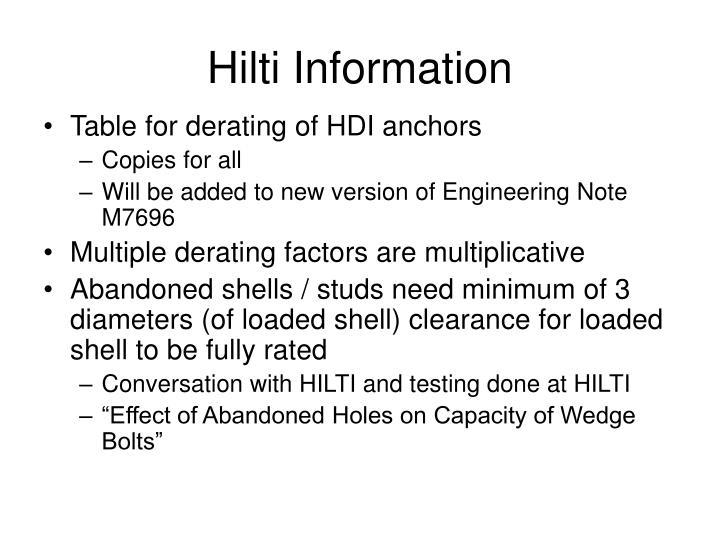 Hilti Information