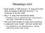 takeaways cont