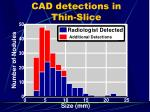 cad detections in thin slice