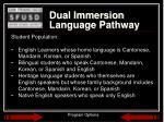 dual immersion language pathway