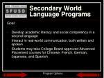 secondary world language programs