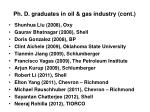 ph d graduates in oil gas industry cont