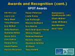 awards and recognition cont