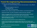 travel re engineering recommendations