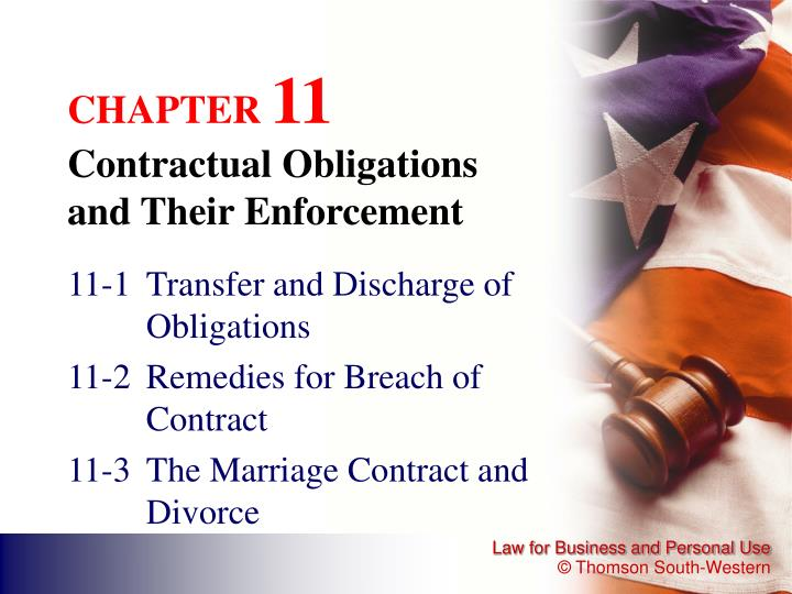chapter 11 contractual obligations and their enforcement n.