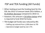 fsp and tea funding all funds
