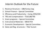 interim outlook for the future
