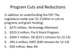 program cuts and reductions