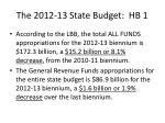the 2012 13 state budget hb 1