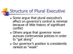 structure of plural executive2