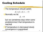 cooling schedule