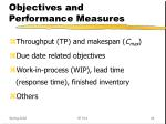 objectives and performance measures