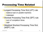 processing time related