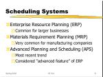 scheduling systems