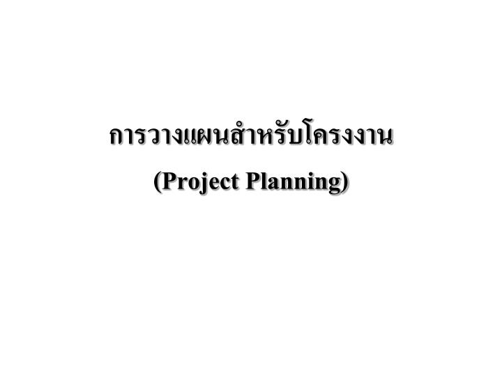 project planning n.