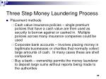 three step money laundering process4