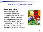 what is organized crime8