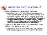 limitations and concerns 1
