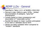 remp llds general