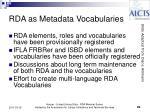 rda as metadata vocabularies