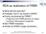 rda as realization of frbr
