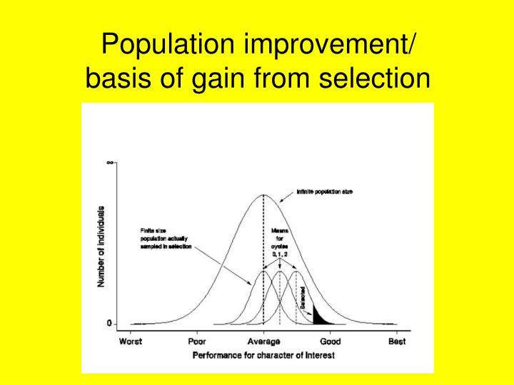 Population improvement/