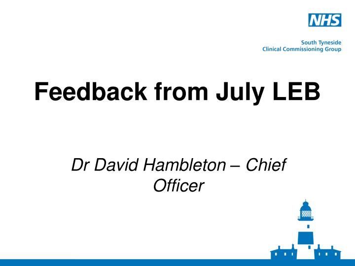 feedback from july leb n.