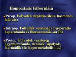 homeostasis felborul sa