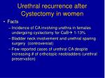urethral recurrence after cystectomy in women