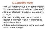 c t capability index