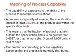 meaning of process capability